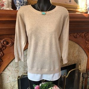 NWT CK Layered Look Sweater Top New
